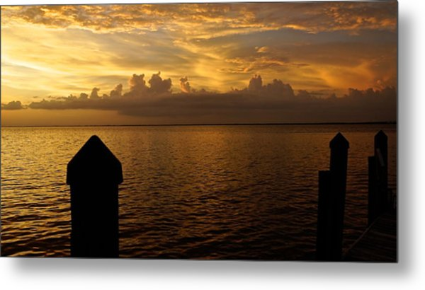 On The Dock Of The Bay Metal Print by Christin Walton