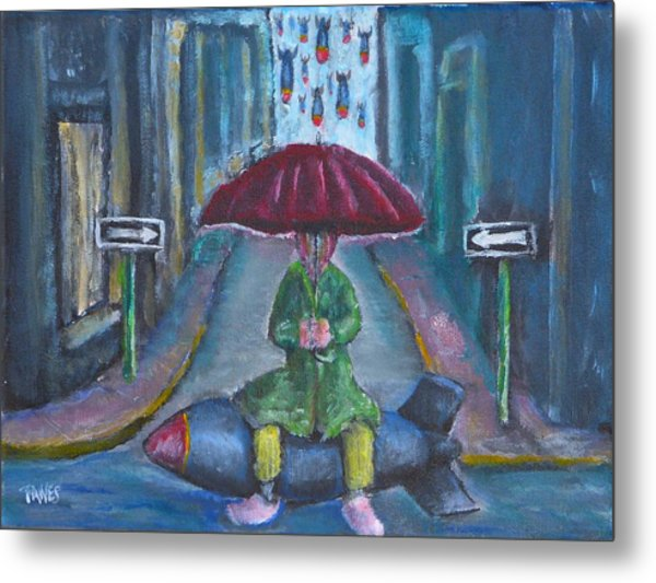 On The Edge Of Rainy Days And Mondays Metal Print