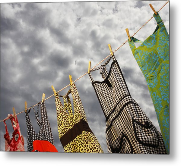 On The Line Metal Print