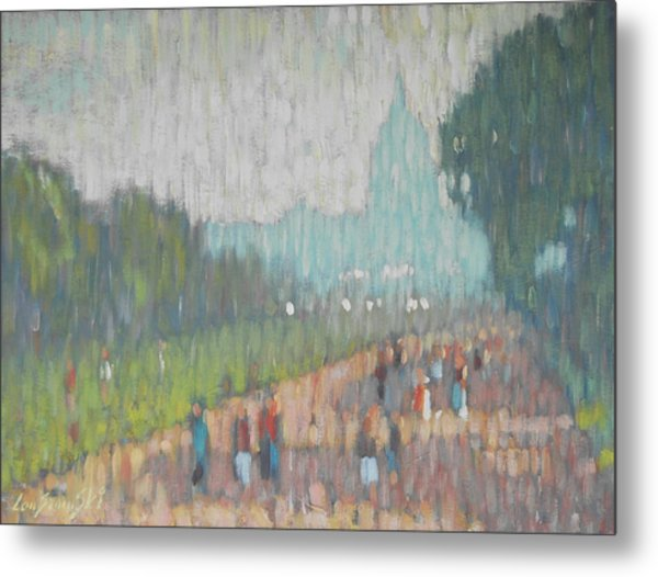 On The Mall Metal Print