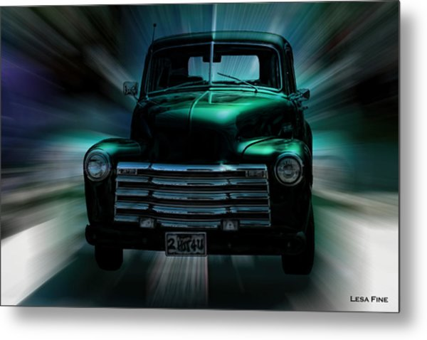 On The Move Truck Art Metal Print