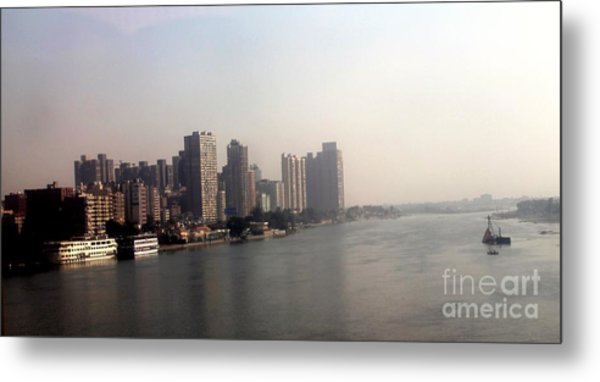 On The Nile River Metal Print