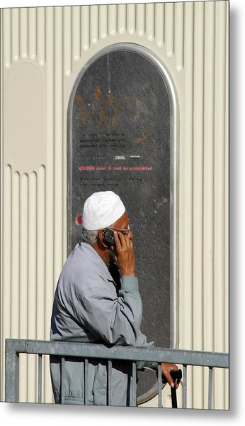 On The Phone Metal Print by Jez C Self