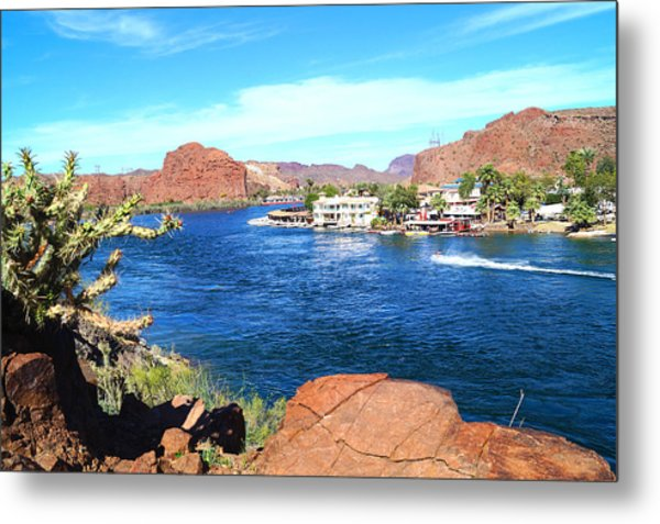 Metal Print featuring the photograph On The Rivers Edge by Broderick Delaney