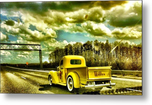 On The Road Again Metal Print