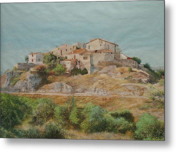 On The Road To Manosque II Metal Print