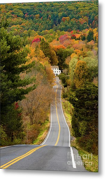 On The Road To New Paltz Metal Print