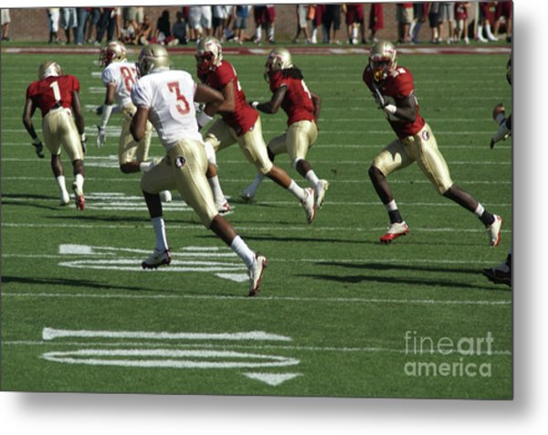 On The Run Metal Print by Allen Simmons