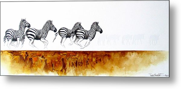 On The Run Metal Print