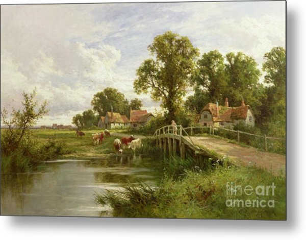 On The Thames Near Marlow Metal Print