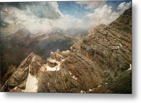 On The Top Of The Mountain  Metal Print
