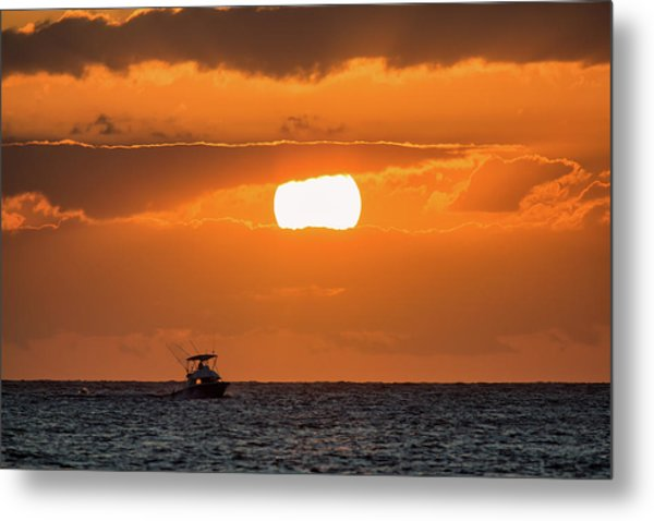 Metal Print featuring the photograph On The Water by David Buhler