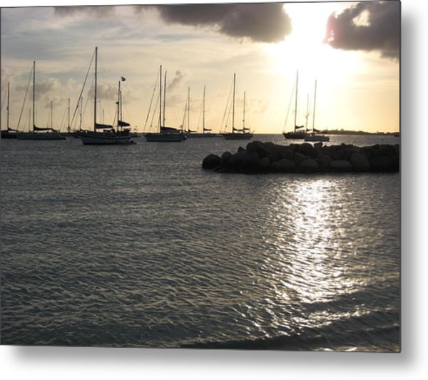 On The Water Metal Print