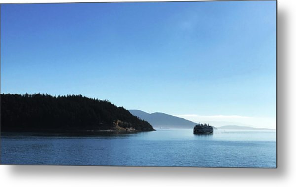 Metal Print featuring the photograph On The Way To Orcas by Lorraine Devon Wilke