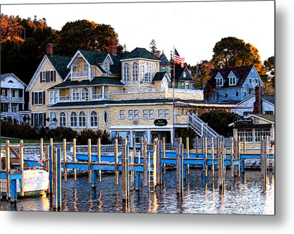 On The Wharf Metal Print