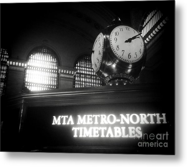 On Time At Grand Central Station Metal Print