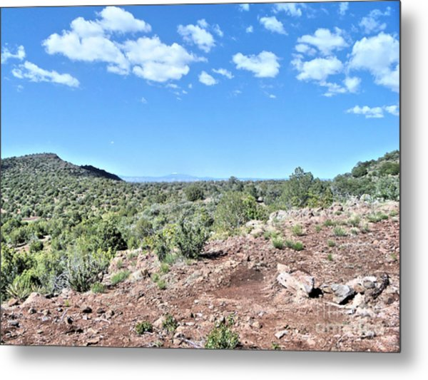 On Top A Mountain Metal Print by Debbie Wells