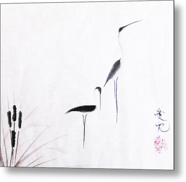 On Typha Pond Metal Print