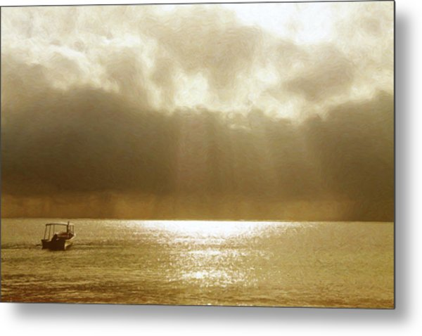One Boat Metal Print