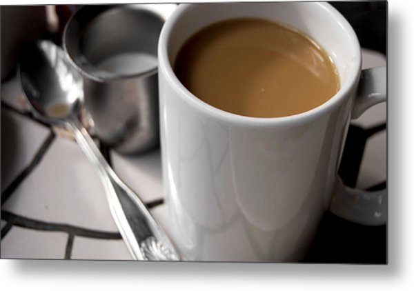One Cup Of Coffee Metal Print by JAMART Photography