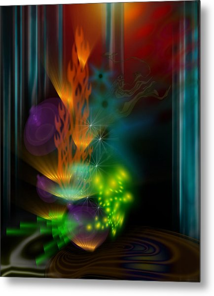 One Flame Metal Print