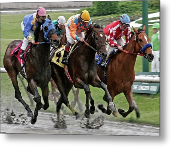 One Hoof Down Metal Print