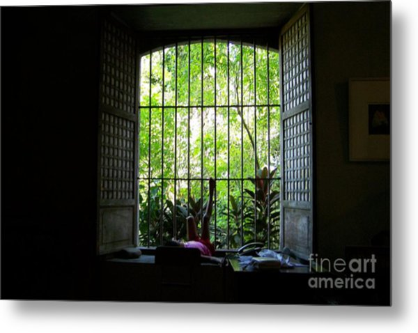One Lazy Sunday Afternoon By The Window Metal Print by Dindin Coscolluela
