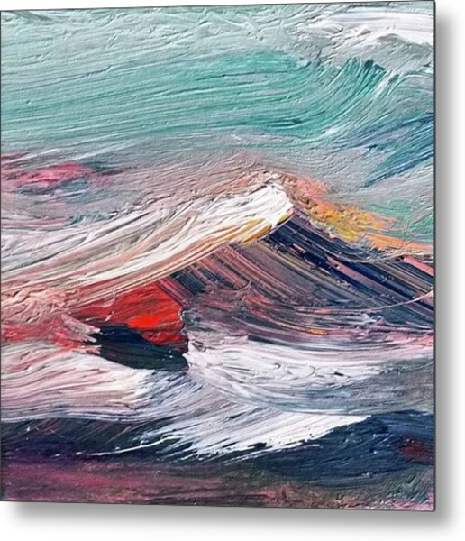 Wave Mountain Metal Print