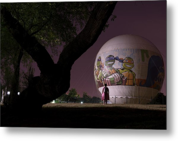 Metal Print featuring the photograph One Peculiar Night... by Dubi Roman