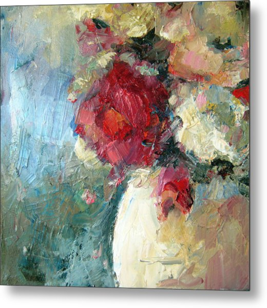 One Red Rose Metal Print by Sharleen Boaden