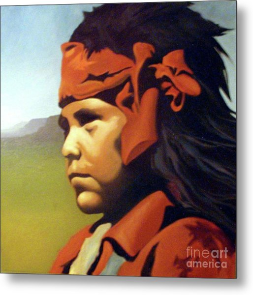 One Who Soars With The Hawk Metal Print