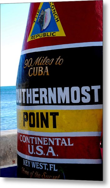 Only 90 Miles To Cuba Metal Print