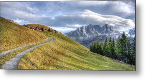 Only In The Swiss Alps Metal Print