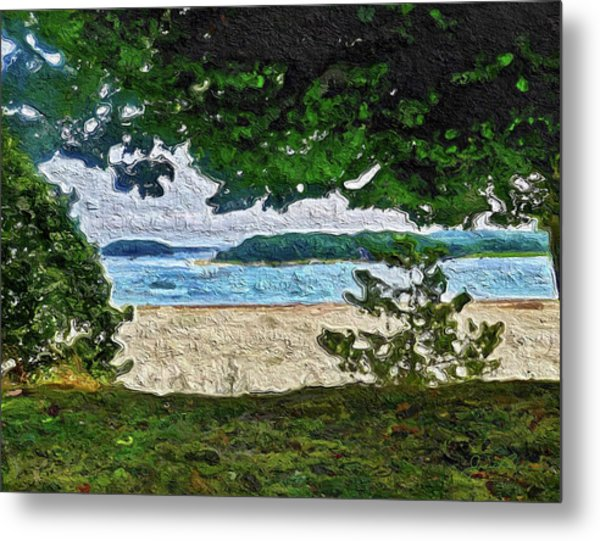 Metal Print featuring the painting Onset, Ma by Joan Reese