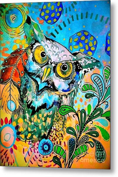 Oogke Owl Metal Print