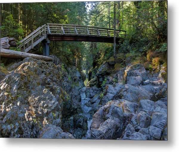 Opal Creek Bridge Metal Print