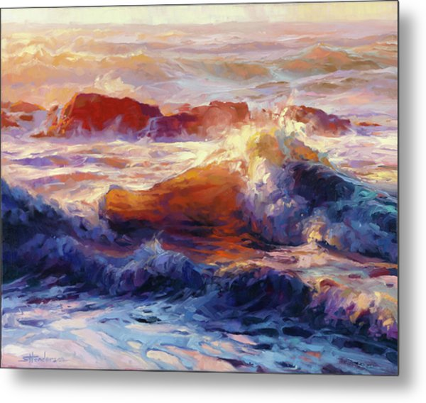 Opalescent Sea Metal Print