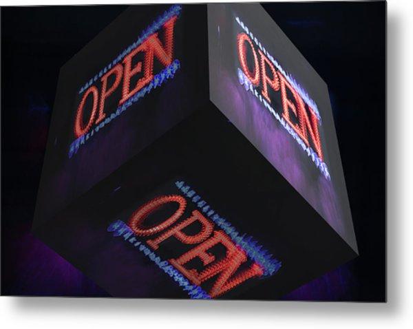 Open 2 - Metal Print