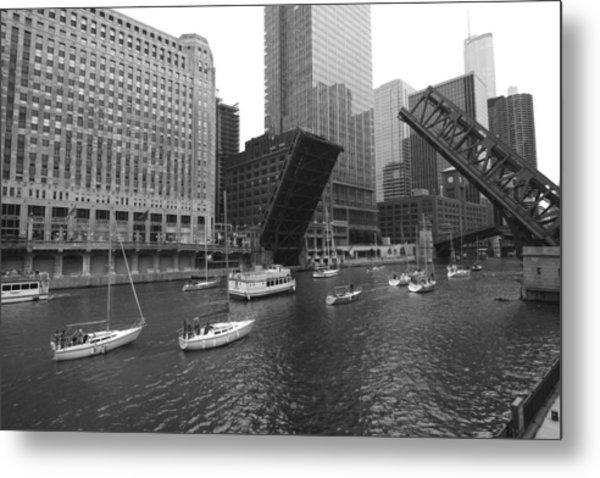 Metal Print featuring the photograph Open Bridges In Chicago by Sven Brogren