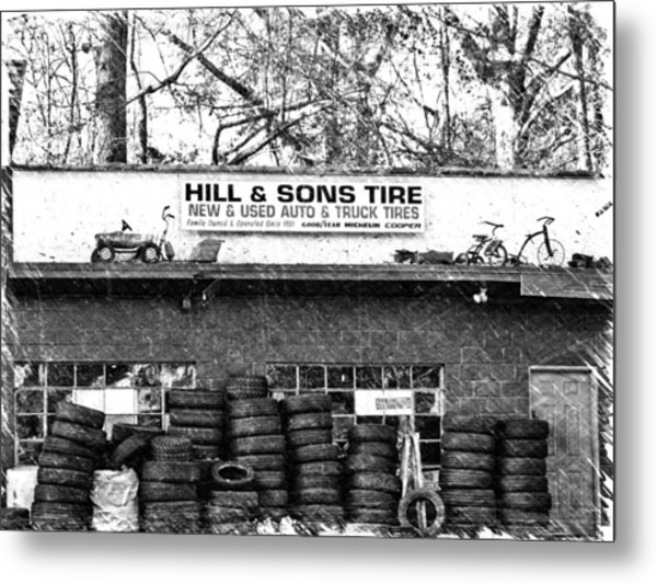 Open For Business Metal Print