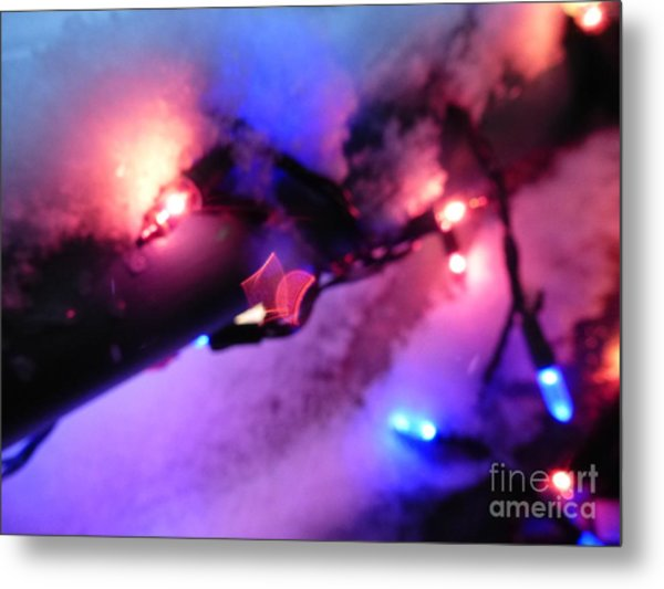 Open Heart Magical Lights Metal Print