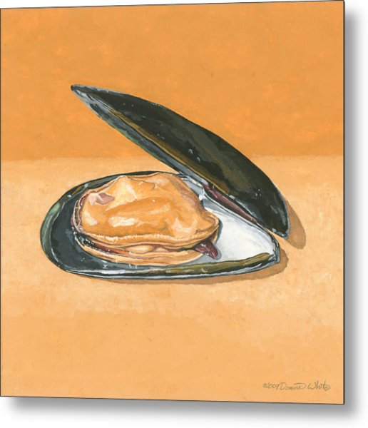 Open Mussel Metal Print