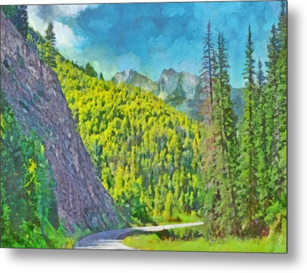 Open Road In The Colorado Rocky Mountains Metal Print
