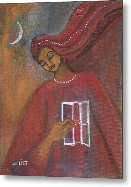 Metal Print featuring the painting Open The Windows To Your Soul by Prerna Poojara