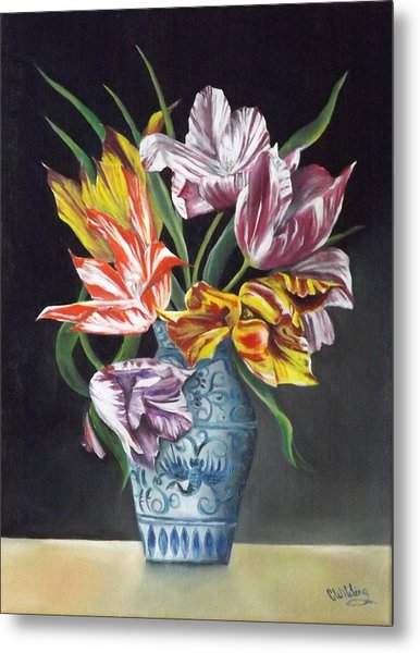 Open Tulips Metal Print