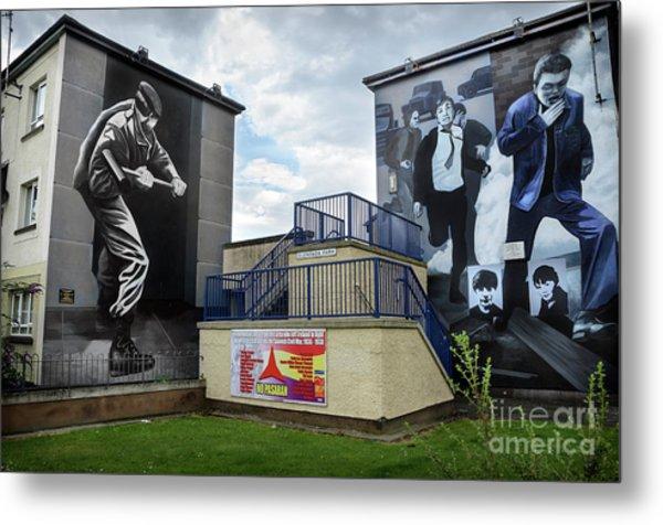 Operation Motorman Mural In Derry Metal Print