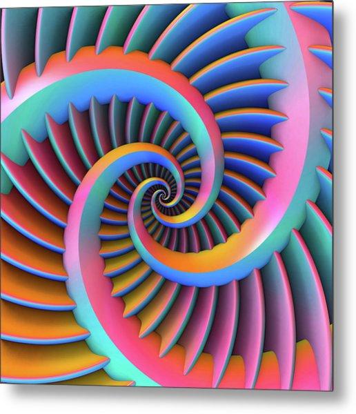 Opposing Spirals Metal Print