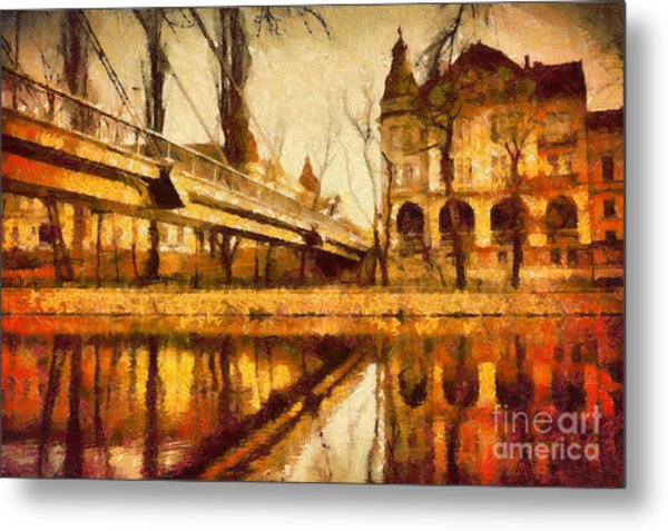 Oradea Chris River Metal Print
