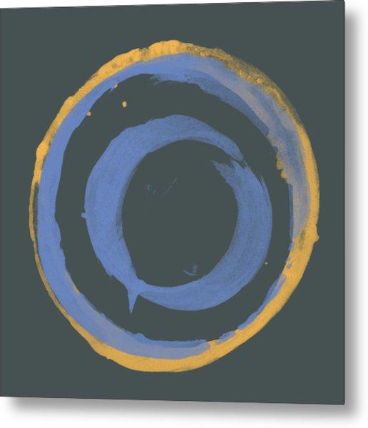 Orange And Blue1 Metal Print