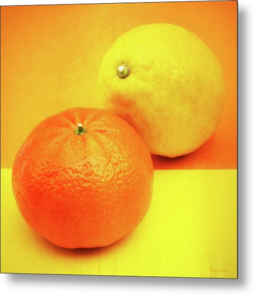 Orange And Lemon Metal Print